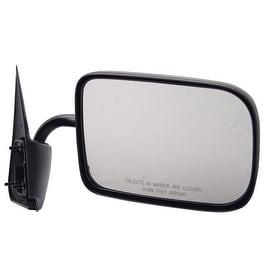 Pilot Automotive TYC 4310112 Black Passenger/ Driver Side Manual Remote Replacement Mirror for Dodge VAN/ PU/ SUV Ram Pickup