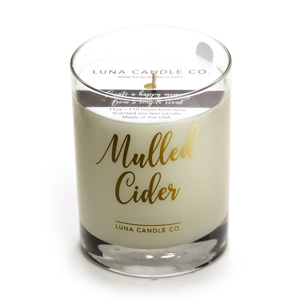Mulled Cider Scented Fall Decor, Premium Soy Candle, 11Oz. Handcrafted