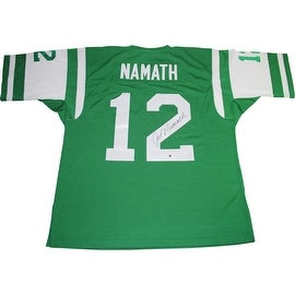 Joe Namath Signed New York Jets 1968 Green Throwback Mitchell & Ness Authentic Jersey