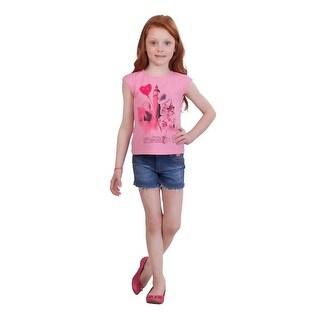 Pulla Bulla Little Girl Graphic Shirt Kids Sleeveless Tee