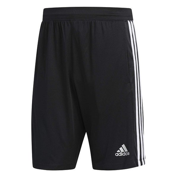 design intemporel c38e2 285d1 Adidas Black Mens Size Large L Basketball Side-Striped Pull-On Shorts