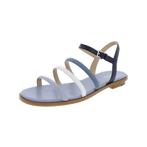 5cf1866e120a Shop MICHAEL Michael Kors Womens Nantucket Flat Sandals Leather Open ...