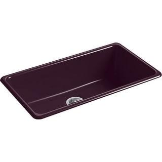 """Kohler K-5707  Iron Tones 33"""" Drop In Single Basin Cast Iron Kitchen Sink"""