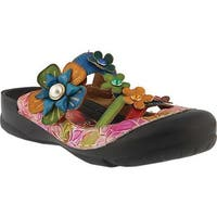 L'Artiste by Spring Step Women's Icaria Clog Red Multi Leather