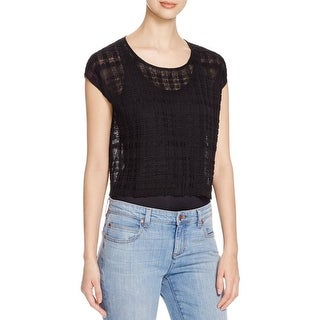 Eileen Fisher Womens Casual Top Jewel Neck Hemp