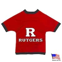 Rutgers Scarlet Knights Athletic Mesh Pet Jersey - Medium