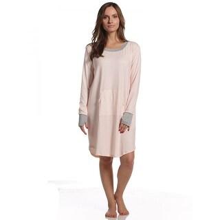 Rene Rofe Women's Pink Stripe Comfy Cozy Sleepshirt