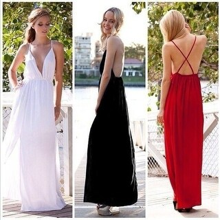 Sexy deep V back cross perspective long and women's Club Jumpsuit bandage dress
