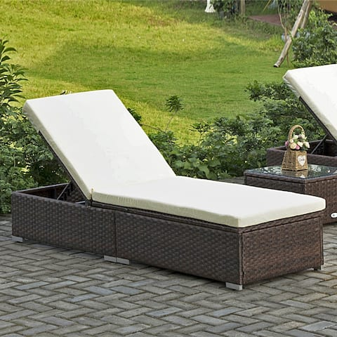 Direct Wicker Protivin Reclining Chaise Lounge with Cushion