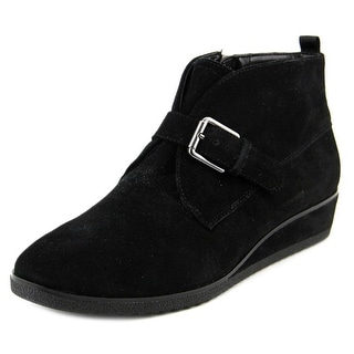 Franco Sarto Brooke Women Round Toe Leather Black Chukka Boot
