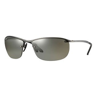 Ray Ban RB3544 029/5J Gunmetal Silver Polarized Rimless Sport Sunglasses - 64mm-15mm-135mm