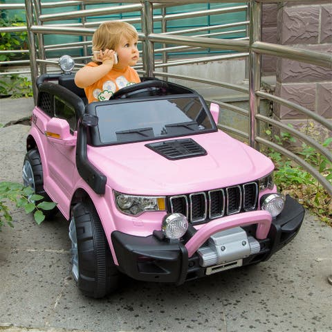 NewAge 12V Kids Electric Ride On Car Truck Car w/Parent Remote Control - Pink