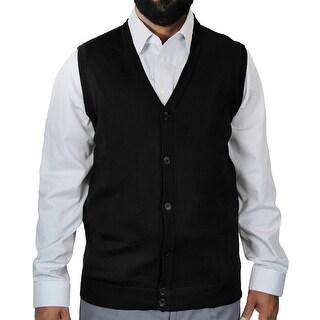 Solid Cardigan Vest