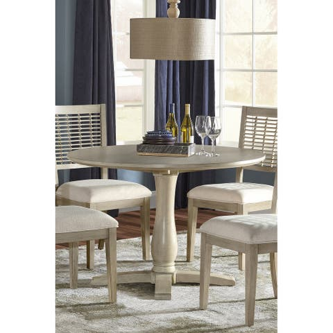 Hillsdale Furniture Ocala Wood Round Dining Table, Sandy Gray - 30H x 44W x 44D