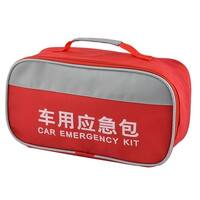 Home Office Outdoor Oxford Cloth First Responder Aid Rescue Storage Bag Red