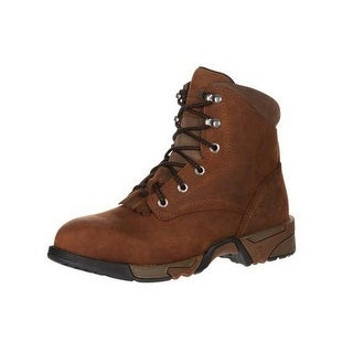 Rocky Work Boots Womens Aztec Lace Up Leather Cement Brown RKK0137