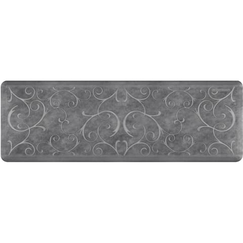 "WellnessMats Estates Bella Anti-Fatigue Office, Bathroom, & Kitchen Mat, Slate, 72"" by 24"""