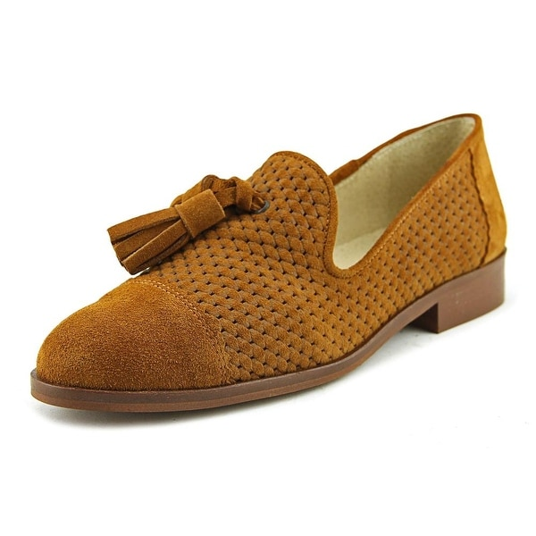 Sixtyseven 78841 Women Round Toe Suede Tan Loafer
