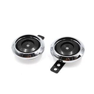 Unique Bargains 2pcs DC 12V 1.5A 105DB Double Sound Tone Motorcycle Electric Horn Speaker