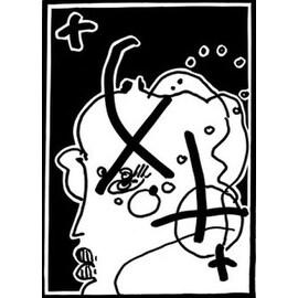 Profile (Black & White), Ltd Ed Lithograph, Peter Max