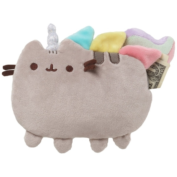 "Pusheenicorn Pusheen Unicorn 7"" Plush Zip-Close Coin Purse - gray"