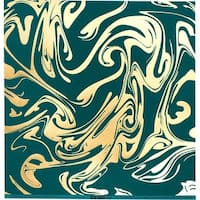 "Bazzill Foiled Pattern Cardstock 12""X12""-Marble W/Gold, Jaw Breaker"