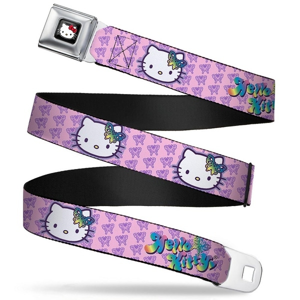 Hello Kitty W Red Bow Full Color Black Butterfly Bow Hello Kitty Butterfly Seatbelt Belt