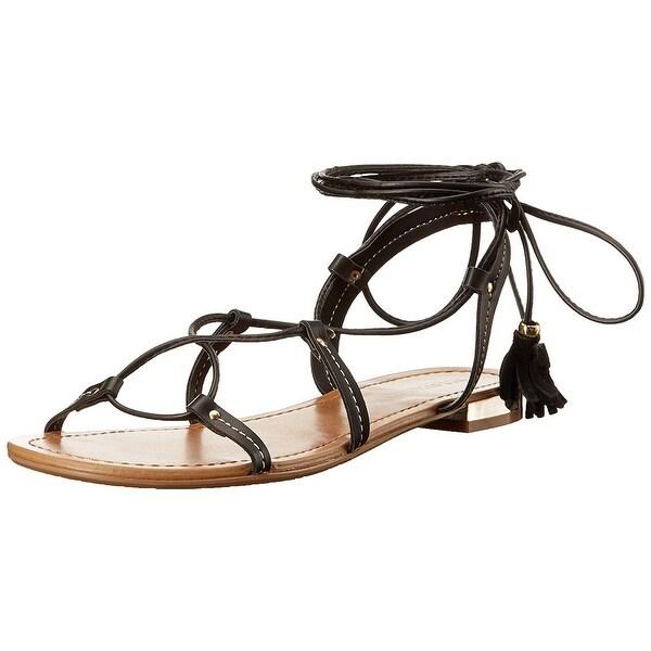 Call It Spring Women's Cargalla Flat Sandal, Black, Size 8.5