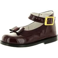 Oxford Girls 2292 Made In Italy Beautiful Dress Flats Shoes - bordo.