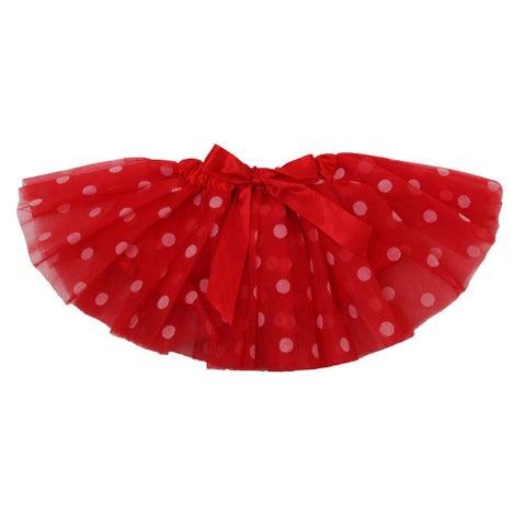 Baby Girls Red White Polka Dots Satin Elastic Waist Ballet Tutu Skirt 0-12M