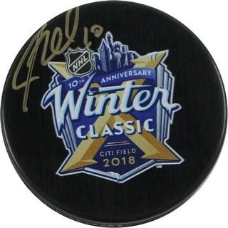JT Miller 2018 NHL Winter Classic Logo Puck