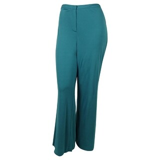 Sutton Studio Womens Wide Leg Trouser Pants Petite - turquoise (2 options available)