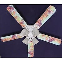 Horses in Pasture Print Blades 52in Ceiling Fan Light Kit - Multi
