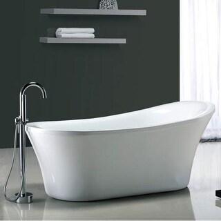 "Miseno MT7035FSO 70-1/16"" Slipper Style Soaking Bathtub for Free Standing Instal"