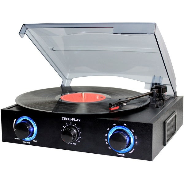 TechPlay TCP2 BK, 3 Speed (33, 45, 78 RPM)turntable with pitch c