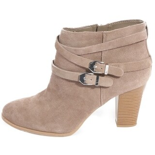 INC International Concepts Womens JAYDIE Suede Round Toe Ankle Cowboy Boots (More options available)