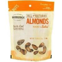 Woodstock Farms - Whole Almonds Roasted & Salted ( 8 - 7.5 OZ)