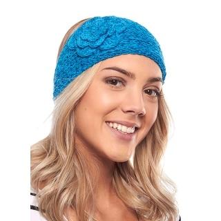 Precious Pansy Knit Winter Headband