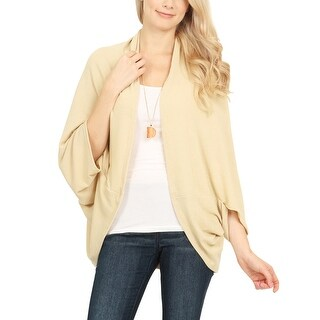 Riah Fashion's Soft Knit Open Front Dolman Cardigan