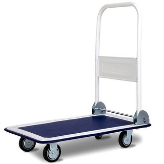 Costway 330lbs Platform Cart Dolly Folding Foldable Moving Warehouse Push Hand Truck New - as pic