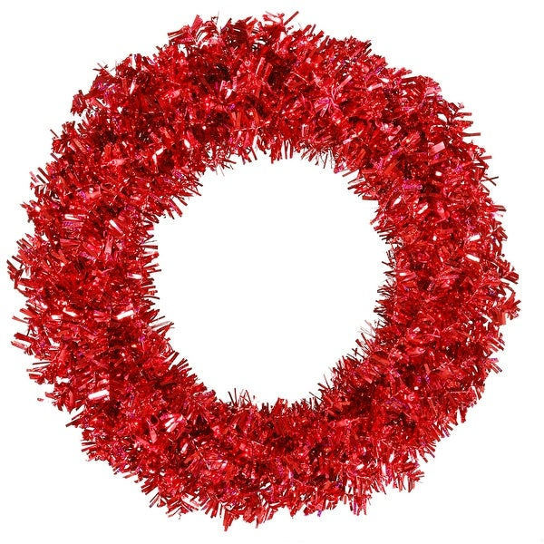 "30"" Red Wide Cut Wreath 70Red 260T"