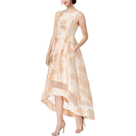70be3a19136 Adrianna Papell Womens Formal Dress Metallic Hi-Low