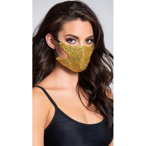 Gold Digger Sequin Face Mask - One Size Fits Most