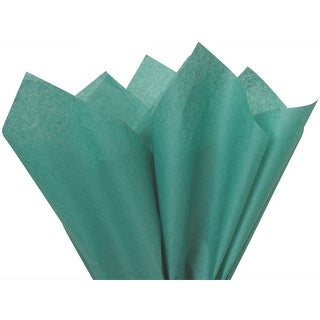 "Pack Of 480, Solid Teal Tissue Paper 20 x 26"" Sheet Half Ream Made From 100% Post Industrial Recycled Fibers"