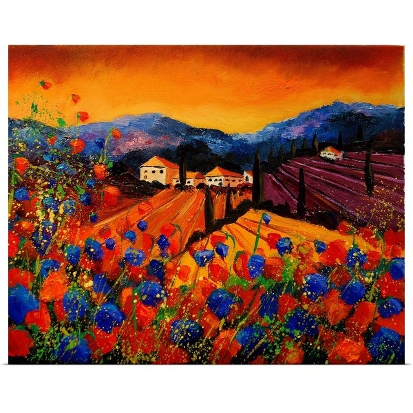 """Tuscany Poppies 45"" Poster Print"
