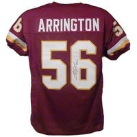 LaVar Arrington Autographed Washington Redskins red size XL jersey JSA