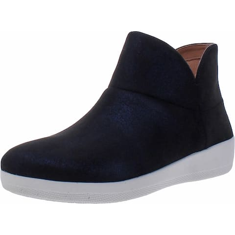 Fitflop Womens Valorie Ankle Boots Faux Suede Pull On