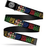 Dc Originals Reverse Brushed Silver Cam Justice League Of America W Web Belt