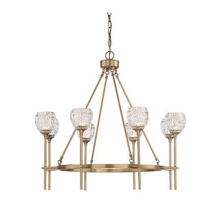 """Savoy House 1-9100-8 Garland 8 Light 32"""" Wide Chandelier with Crystal Shades"""