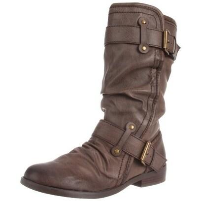 Report Signature Womens Hilaria Almond Toe Mid-Calf Fashion Boots